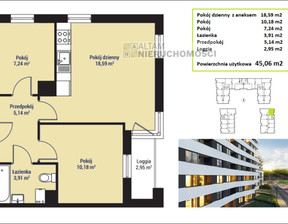 Mieszkanie na sprzedaż, Kraków M. Kraków Mistrzejowice, 423 564 zł, 45,06 m2, ATM-MS-1368
