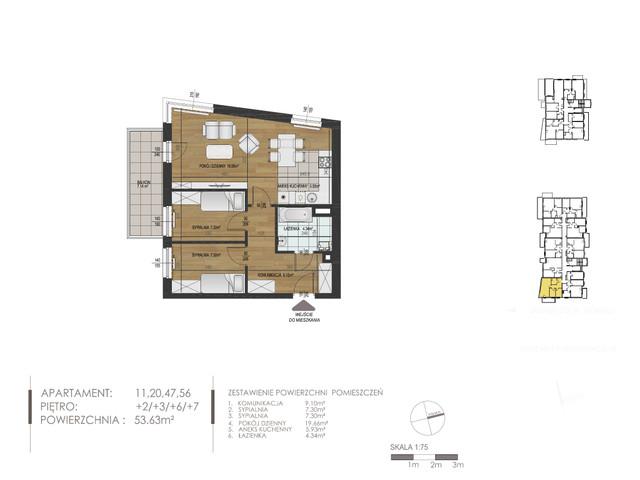 Mieszkanie w inwestycji Mokra 10, budynek Budynek A, symbol 11 » nportal.pl
