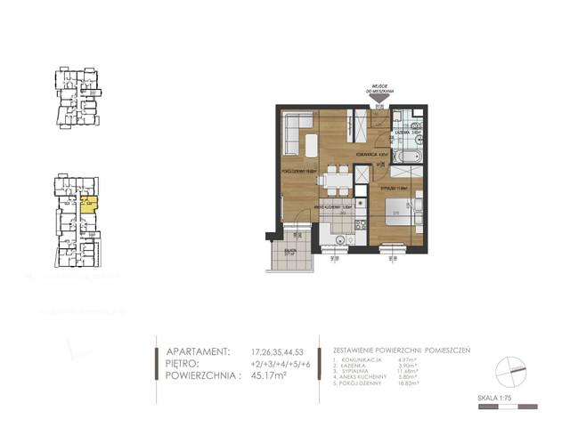 Mieszkanie w inwestycji Mokra 10, budynek Budynek A, symbol 17 » nportal.pl