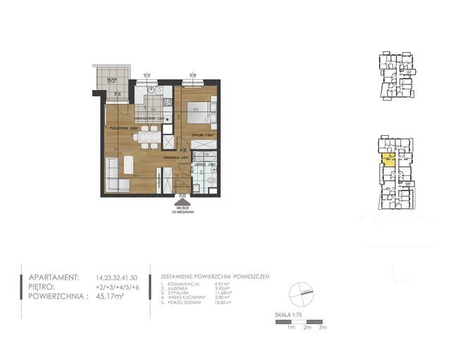 Mieszkanie w inwestycji Mokra 10, budynek Budynek A, symbol 23 » nportal.pl