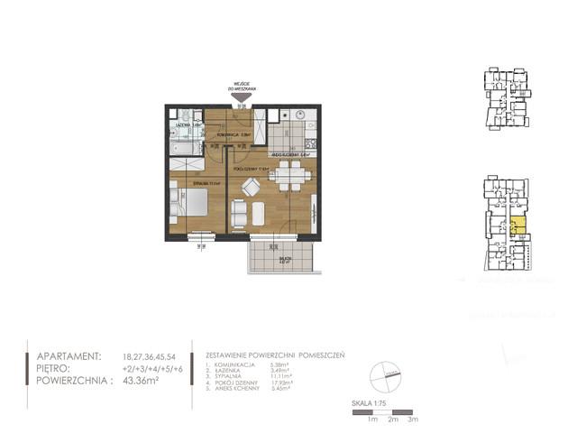 Mieszkanie w inwestycji Mokra 10, budynek Budynek A, symbol 36 » nportal.pl