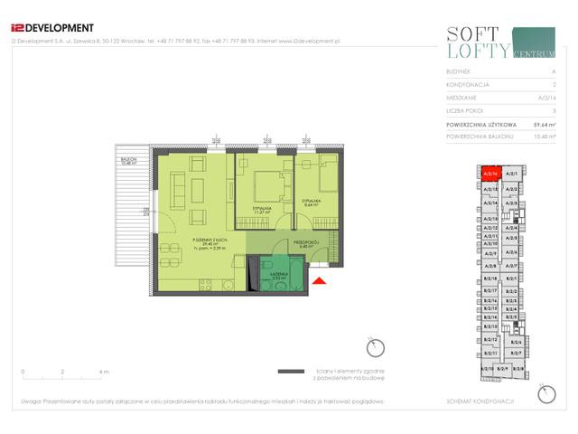 Mieszkanie w inwestycji Soft Lofty Centrum/Legnicka, budynek CENTRUM, symbol A/2/16 » nportal.pl