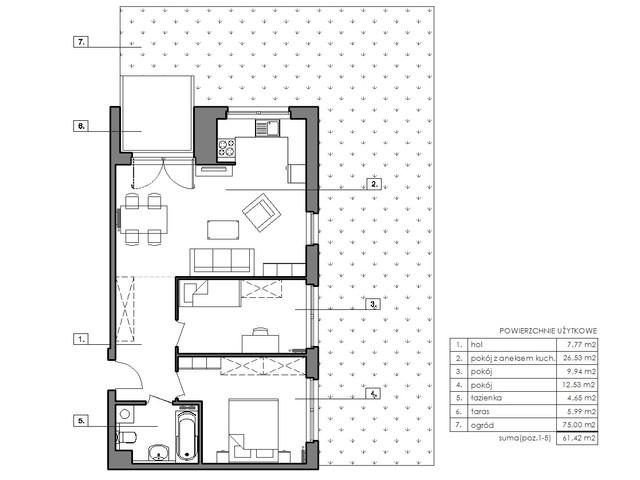 Mieszkanie w inwestycji Signum, budynek Budynek I, symbol B.0.4 » nportal.pl
