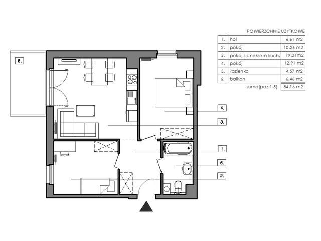 Mieszkanie w inwestycji Signum, symbol B.2.2 » nportal.pl