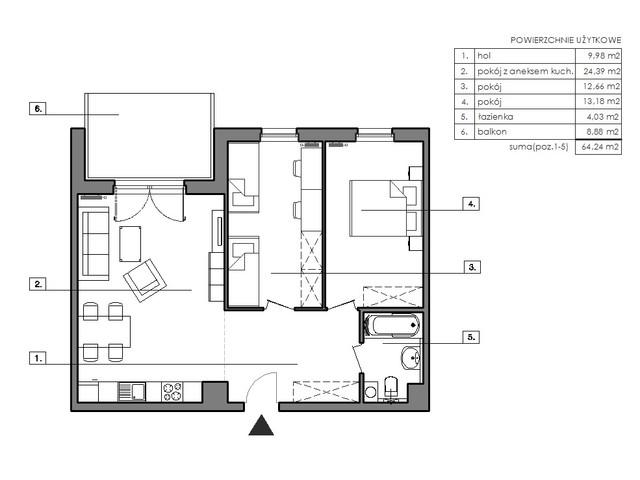 Mieszkanie w inwestycji Signum, symbol B.2.3 » nportal.pl