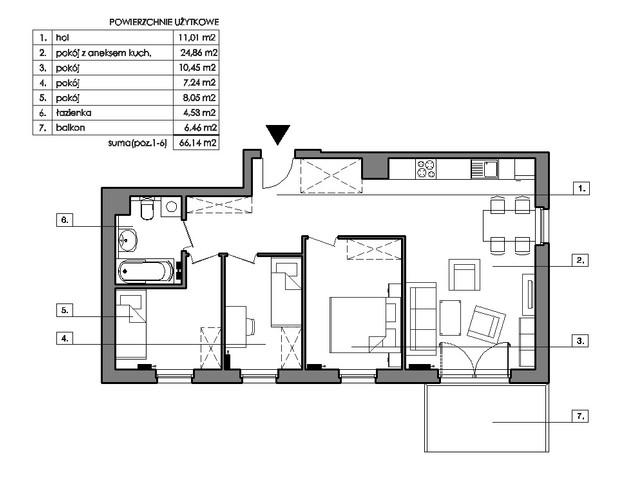 Mieszkanie w inwestycji Signum, symbol B.2.5 » nportal.pl