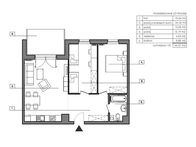 Mieszkanie w inwestycji Signum, symbol B.4.3 » nportal.pl