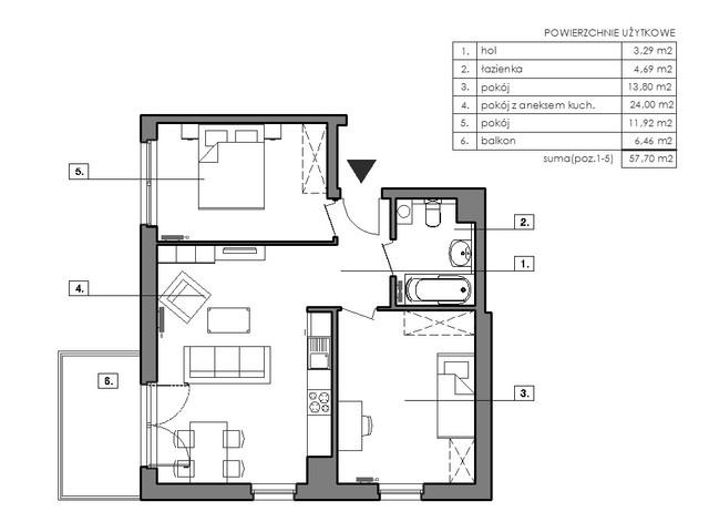 Mieszkanie w inwestycji Signum, symbol B.6.1 » nportal.pl