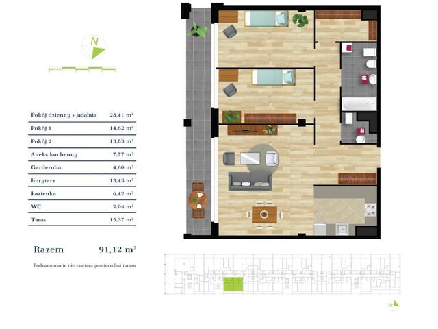 Mieszkanie w inwestycji Apartamenty Zdrowie w Łodzi, symbol K2.IV.4 » nportal.pl