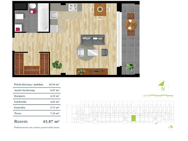 Mieszkanie w inwestycji Apartamenty Zdrowie w Łodzi, symbol K3.0.12 » nportal.pl