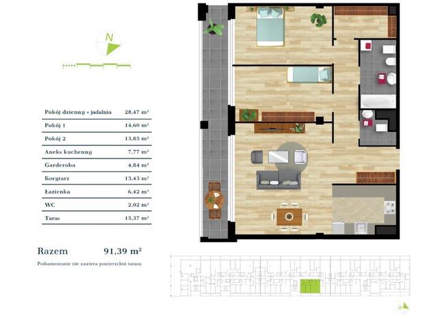 Mieszkanie w inwestycji Apartamenty Zdrowie w Łodzi, symbol K3.III.6 » nportal.pl