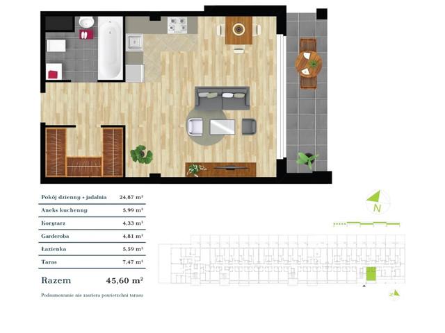 Mieszkanie w inwestycji Apartamenty Zdrowie w Łodzi, symbol K4.0.14 » nportal.pl