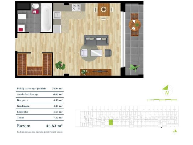 Mieszkanie w inwestycji Apartamenty Zdrowie w Łodzi, symbol K2.0.8 » nportal.pl
