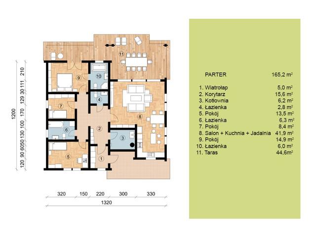 Dom w inwestycji Satori House, budynek Opcja Pod klucz z płytą fundamentową, symbol S06P02 » nportal.pl