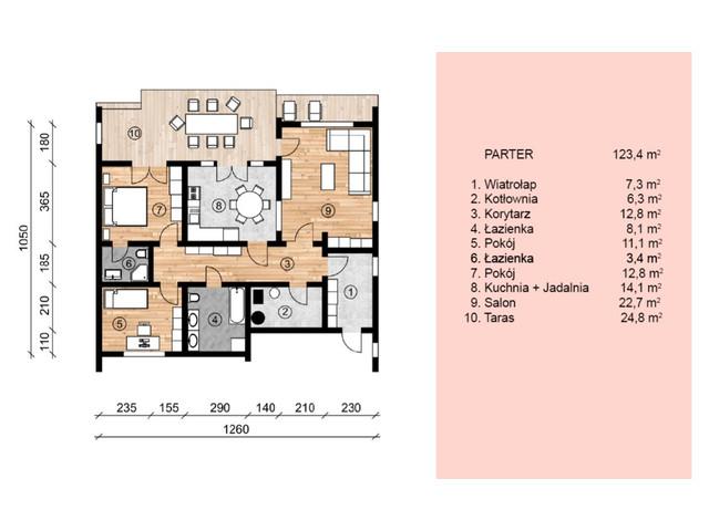 Dom w inwestycji Satori House, budynek Opcja Pod klucz z płytą fundamentową, symbol S06P04 » nportal.pl