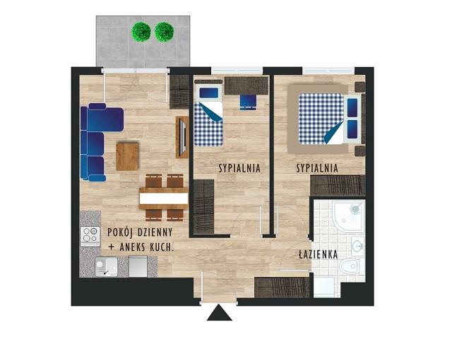 Mieszkanie w inwestycji Karoliny V, budynek Etap V, symbol 22 » nportal.pl