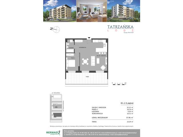 Mieszkanie w inwestycji Osiedle Tatrzańska, budynek D, symbol D1.2 » nportal.pl