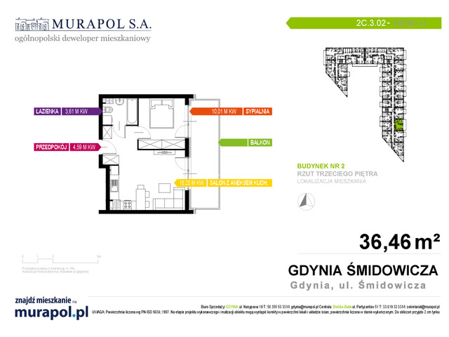 Mieszkanie w inwestycji Murapol Nadmorskie Tarasy, budynek Budynek 2, symbol 2C.3.02 » nportal.pl