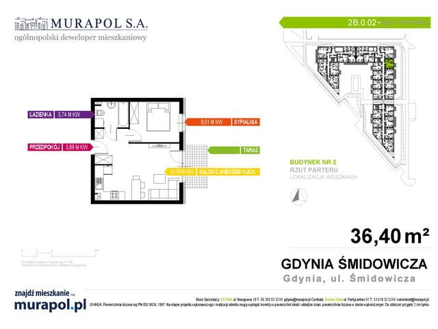 Mieszkanie w inwestycji Murapol Nadmorskie Tarasy, budynek Budynek 2, symbol 2B.0.02 » nportal.pl