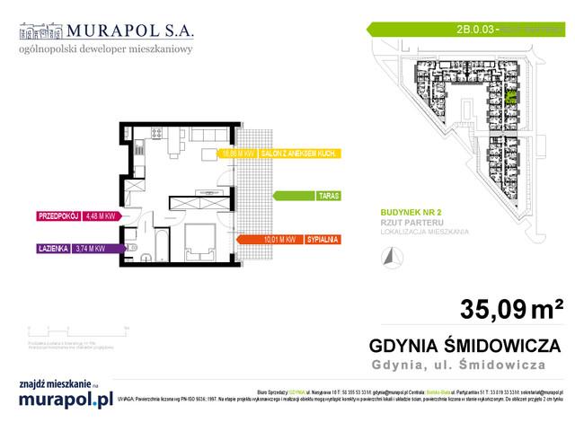 Mieszkanie w inwestycji Murapol Nadmorskie Tarasy, budynek Budynek 2, symbol 2B.0.03 » nportal.pl