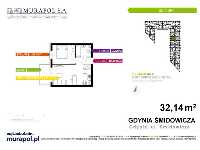 Mieszkanie w inwestycji Murapol Nadmorskie Tarasy, budynek Budynek 2, symbol 2B.1.09 » nportal.pl