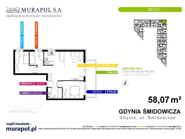 Mieszkanie w inwestycji Murapol Nadmorskie Tarasy, budynek Budynek 2, symbol 2B.2.01 » nportal.pl