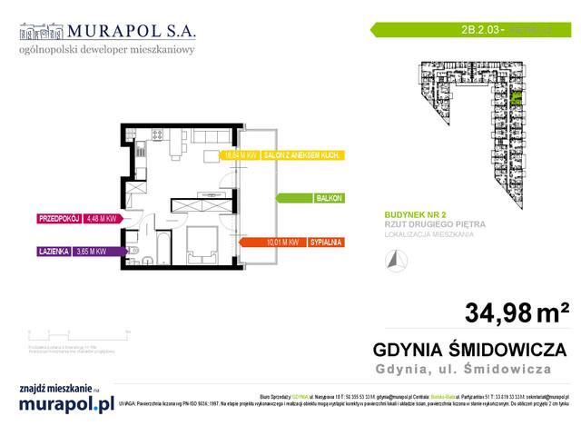 Mieszkanie w inwestycji Murapol Nadmorskie Tarasy, budynek Budynek 2, symbol 2B.2.03 » nportal.pl