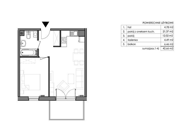Mieszkanie w inwestycji Signum, budynek Budynek II – Stratus, symbol C.2.2 » nportal.pl