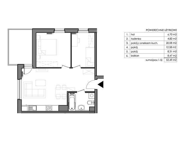 Mieszkanie w inwestycji Signum, budynek Budynek II – Stratus, symbol C.4.5 » nportal.pl