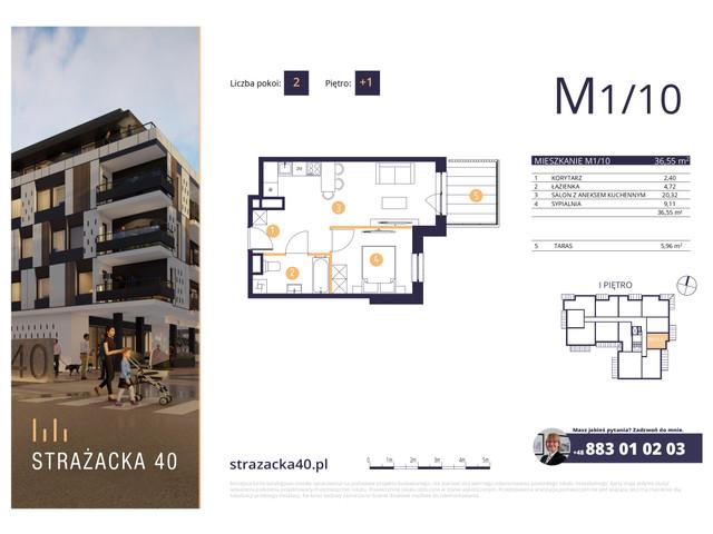 Mieszkanie w inwestycji Strażacka 40, symbol M1/10 » nportal.pl