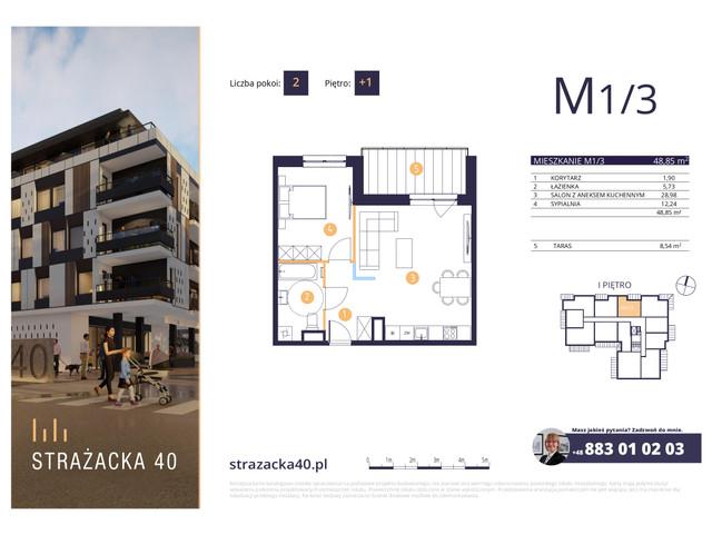 Mieszkanie w inwestycji Strażacka 40, symbol M1/3 » nportal.pl