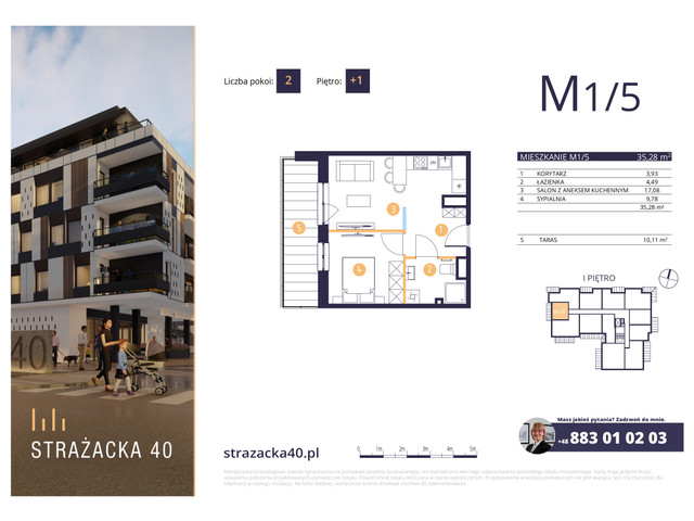 Mieszkanie w inwestycji Strażacka 40, symbol M1/5 » nportal.pl