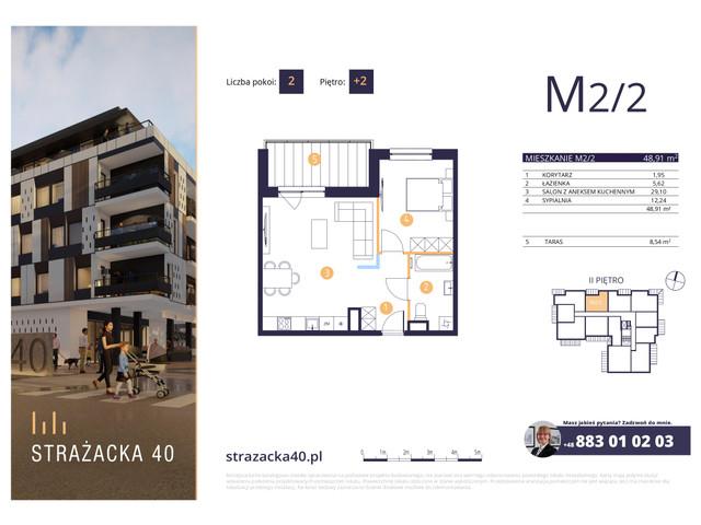 Mieszkanie w inwestycji Strażacka 40, symbol M2/2 » nportal.pl