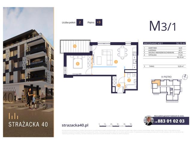 Mieszkanie w inwestycji Strażacka 40, symbol M3/1 » nportal.pl