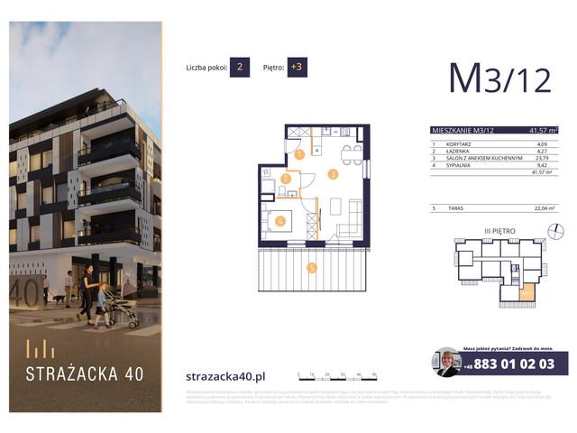 Mieszkanie w inwestycji Strażacka 40, symbol M3/12 » nportal.pl