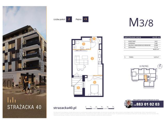 Mieszkanie w inwestycji Strażacka 40, symbol M3/8 » nportal.pl