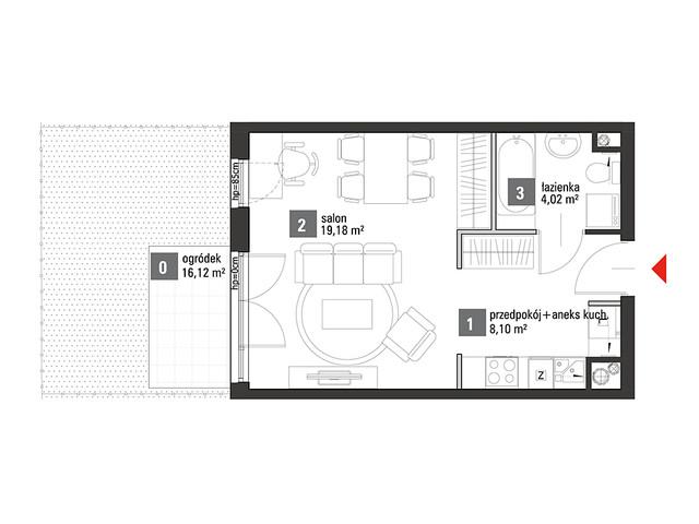 Mieszkanie w inwestycji Chabrowe Wzgórze, symbol C1.0.27 » nportal.pl
