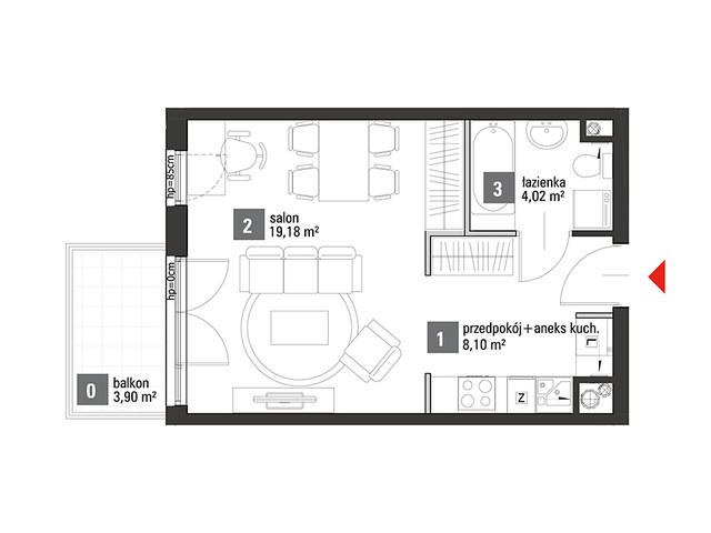 Mieszkanie w inwestycji Chabrowe Wzgórze, symbol C1.1.33 » nportal.pl