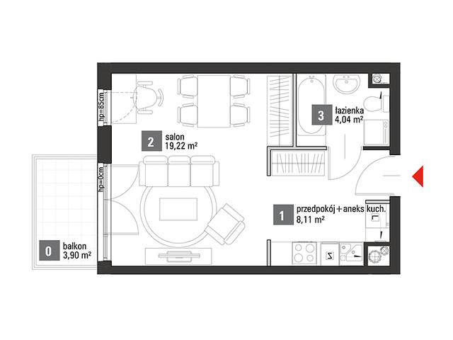 Mieszkanie w inwestycji Chabrowe Wzgórze, symbol C1.1.34 » nportal.pl