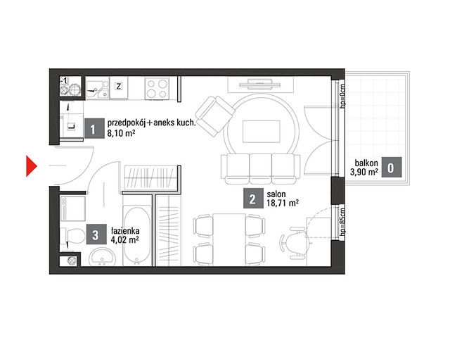 Mieszkanie w inwestycji Chabrowe Wzgórze, symbol C1.2.39 » nportal.pl