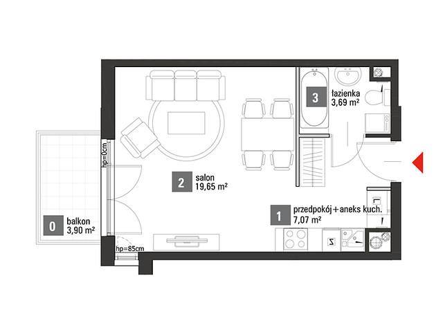 Mieszkanie w inwestycji Chabrowe Wzgórze, symbol C1.1.36 » nportal.pl