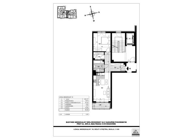 Mieszkanie w inwestycji ul. bpa A. Małysiaka, budynek 2A, symbol 2A/16 » nportal.pl