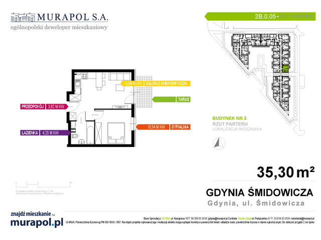 Mieszkanie w inwestycji Murapol Nadmorskie Tarasy, budynek Budynek 2, symbol 2B.0.05 » nportal.pl