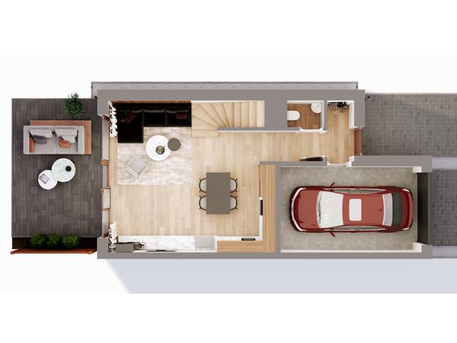 Mieszkanie w inwestycji Chmielowice Apartamenty, budynek Blizniaki, symbol B5-P » nportal.pl