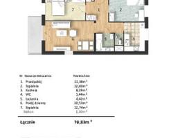 Mieszkanie w inwestycji Osiedle Słoneczne, budynek Budynek 1, symbol 42