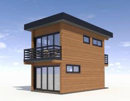 Dom w inwestycji Satori House (śląskie), budynek Opcja Standard z płytą fundamentową, symbol S05P08